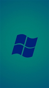 Microsoft windows blue logo iPhone 5s wallpaper