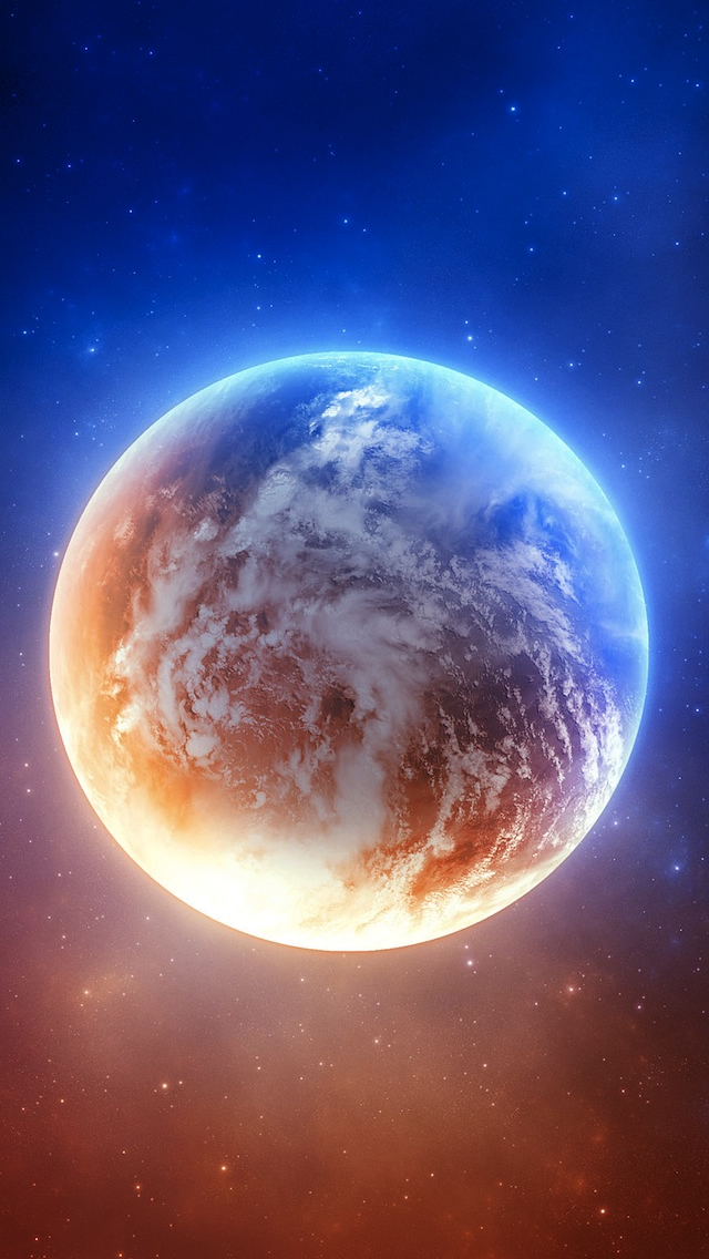 wonderful earth in abstract space iPhone wallpaper