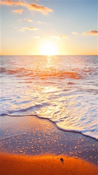 Golden Beach iPhone 5s wallpaper