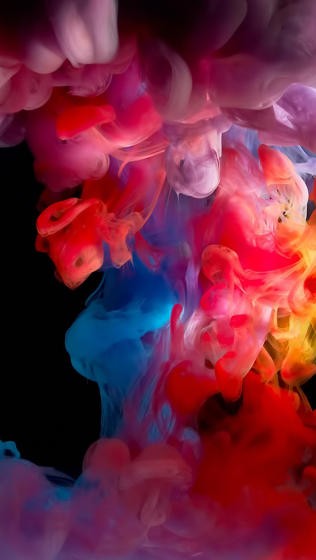 Colorful smoke iPhone wallpaper