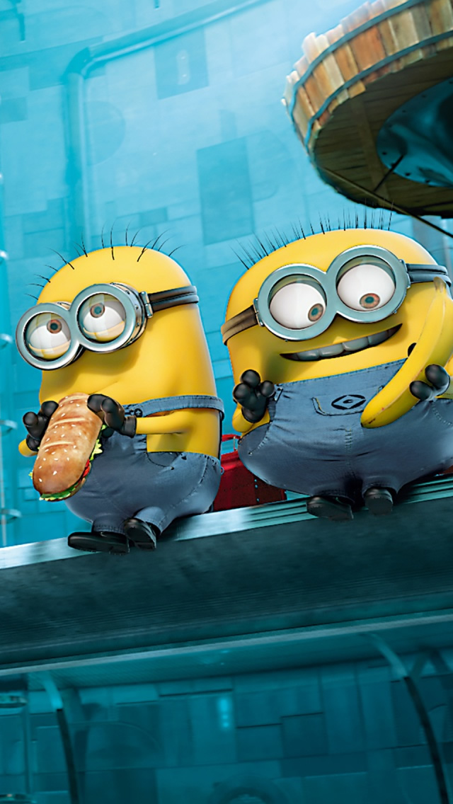 Paradise Minions Despicable Me iPhone wallpaper