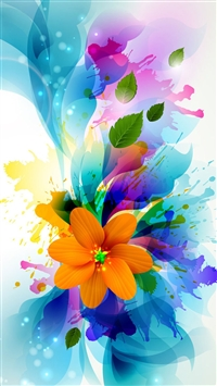 Bouquet of Colors iPhone 5s wallpaper