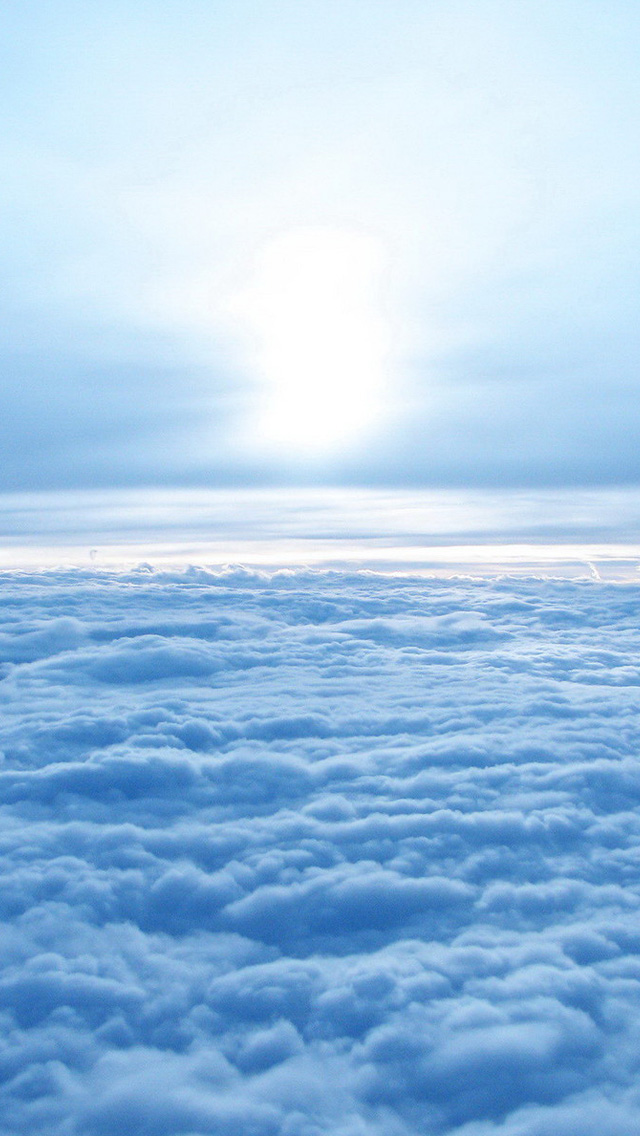 Above blue sky iPhone wallpaper