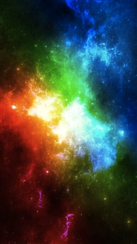 Abstract Colorful Space iPhone 5s wallpaper