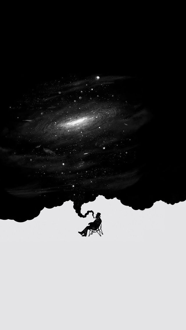 pondering space iPhone wallpaper