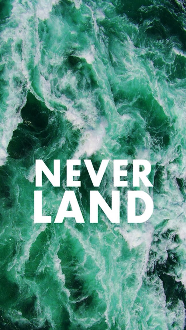 Quotes Never Land Sea iPhone wallpaper