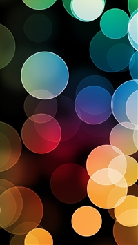 Colorful Bokeh iPhone 5s wallpaper