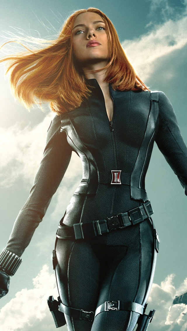 Black Widow In Captain America The Winter Soldier iPhone wallpaper
