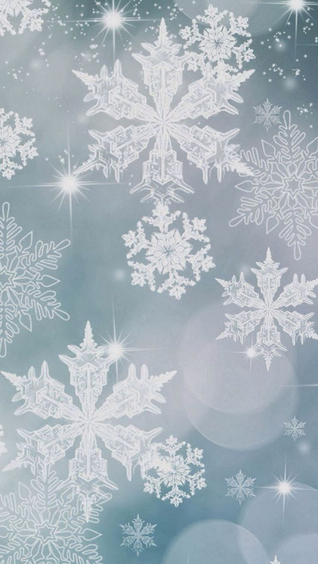 Snowflake Pattern Background iPhone wallpaper