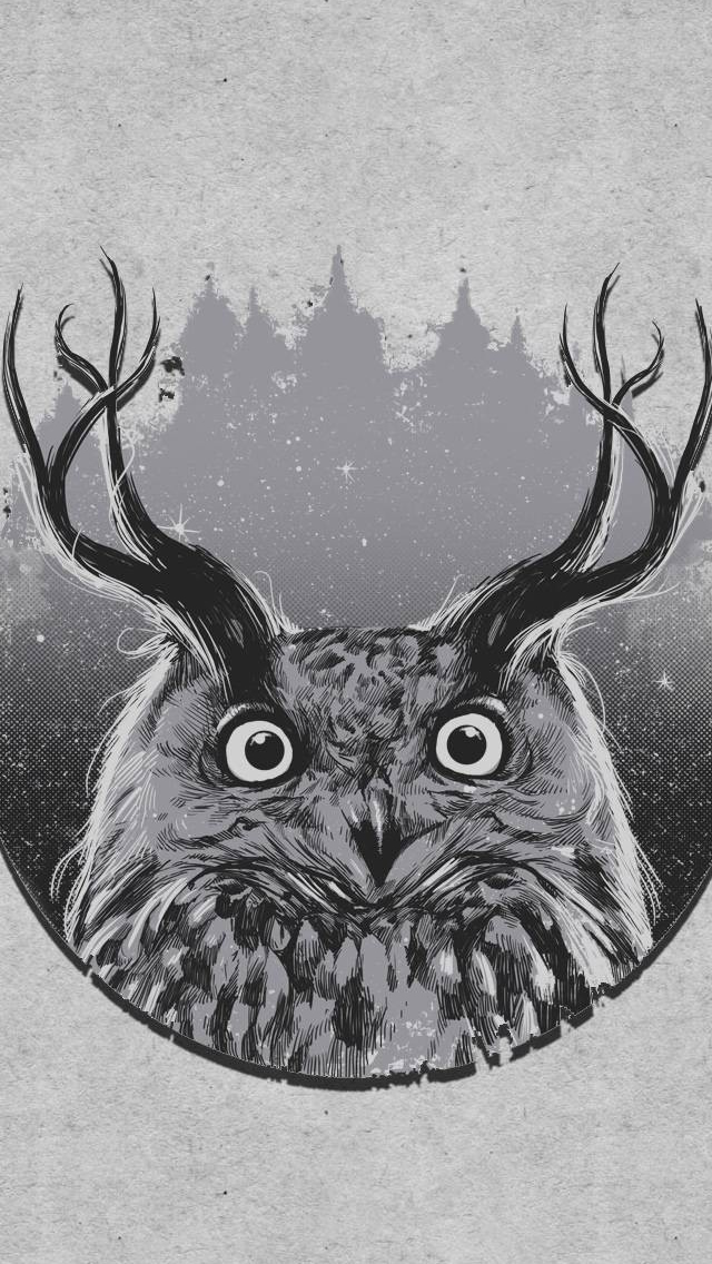 Abstract Owl S Horn Minimalist Iphone Wallpapers Free Download