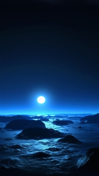 Moon at midnight iPhone 5s wallpaper