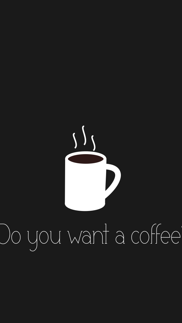 Coffee Minimalism Cool Cute Fun iPhone wallpaper