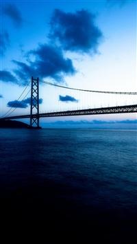 Pearl Bridge in Japan iPhone 5s wallpaper