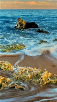 Rocks And Sea Landscape iPhone 5s wallpaper