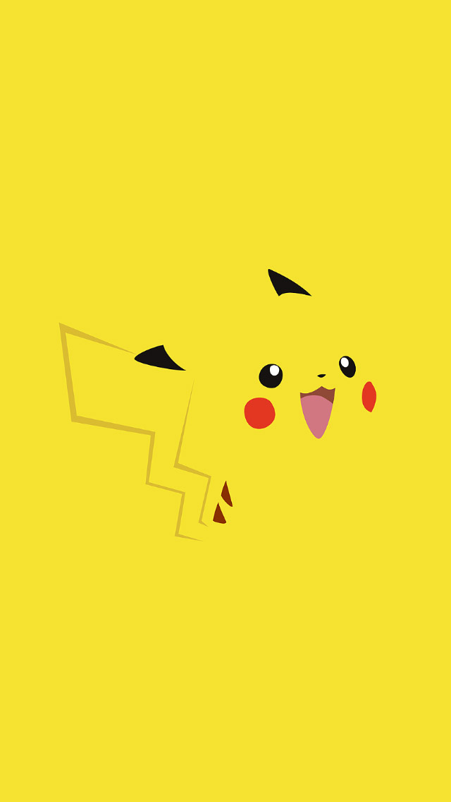 Cute Pika Pikachu  iPhone wallpaper