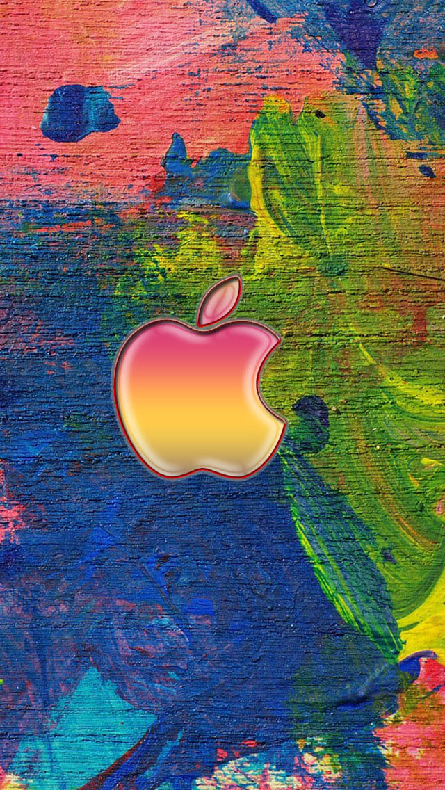 Apple logo on the easel iPhone wallpaper