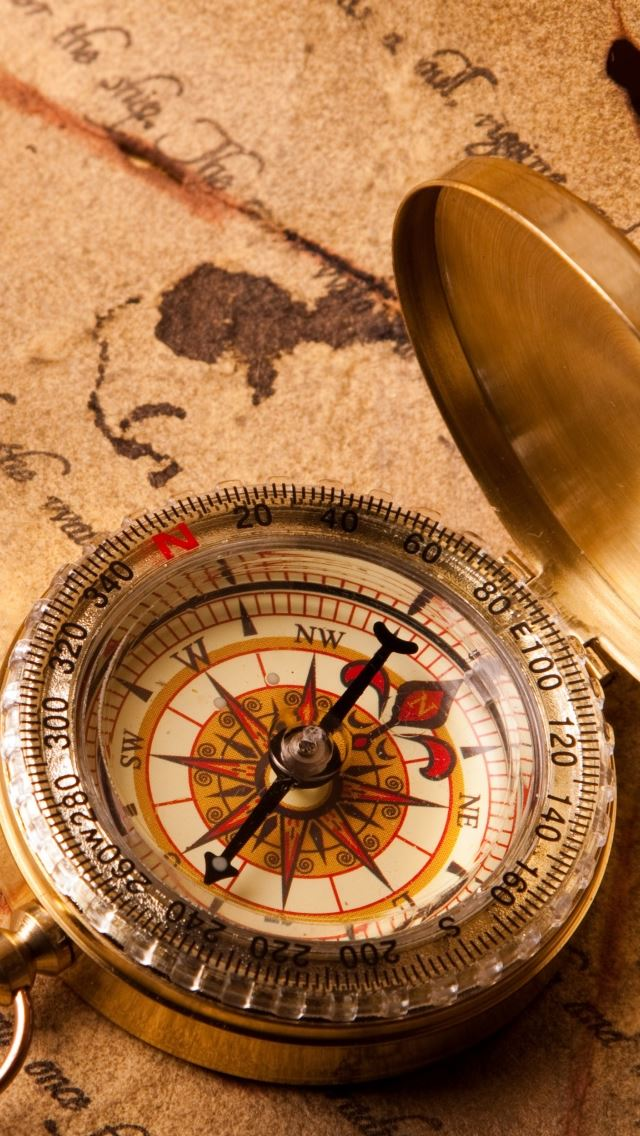 Vintage Compass iPhone wallpaper