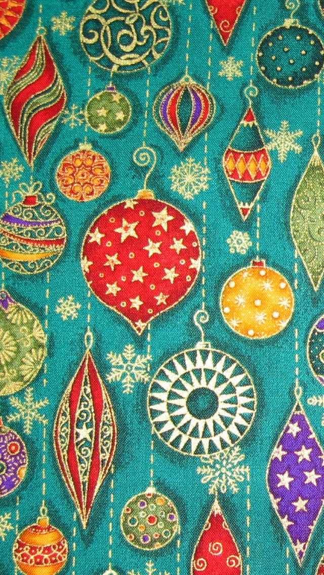Christmas Decorations Pattern iPhone wallpaper