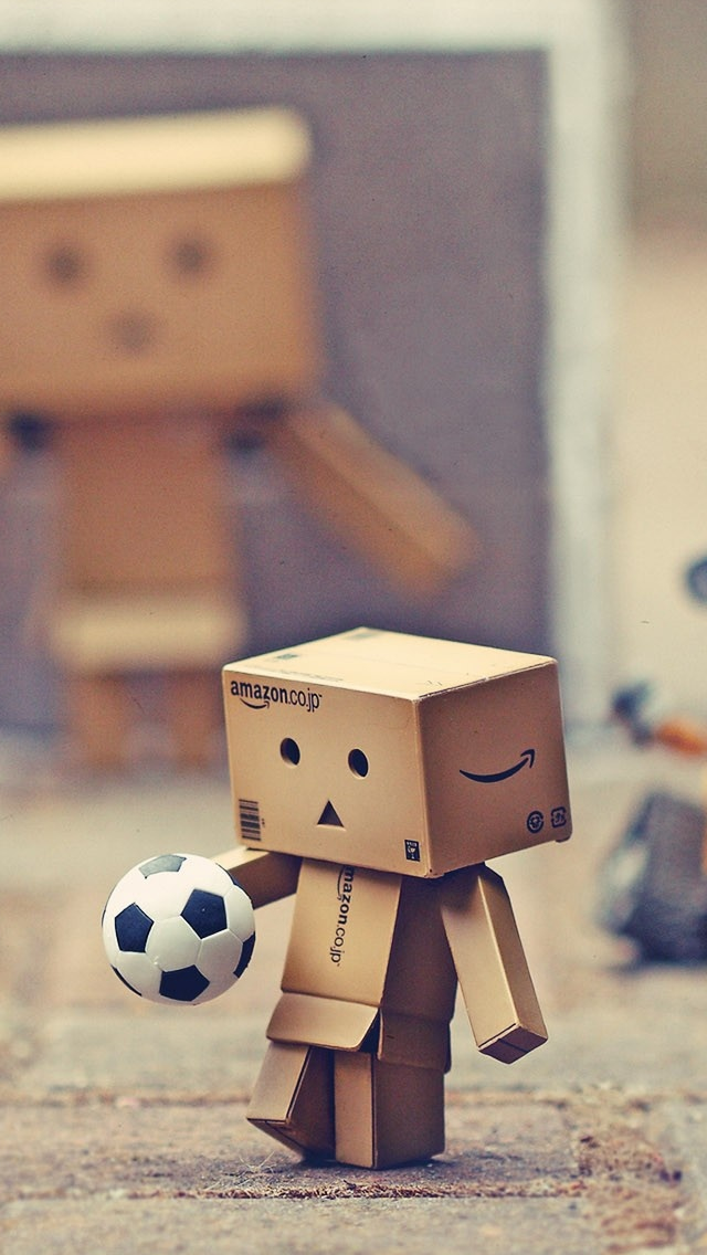 Danbo And Other Toys To Play Football iPhone wallpaper