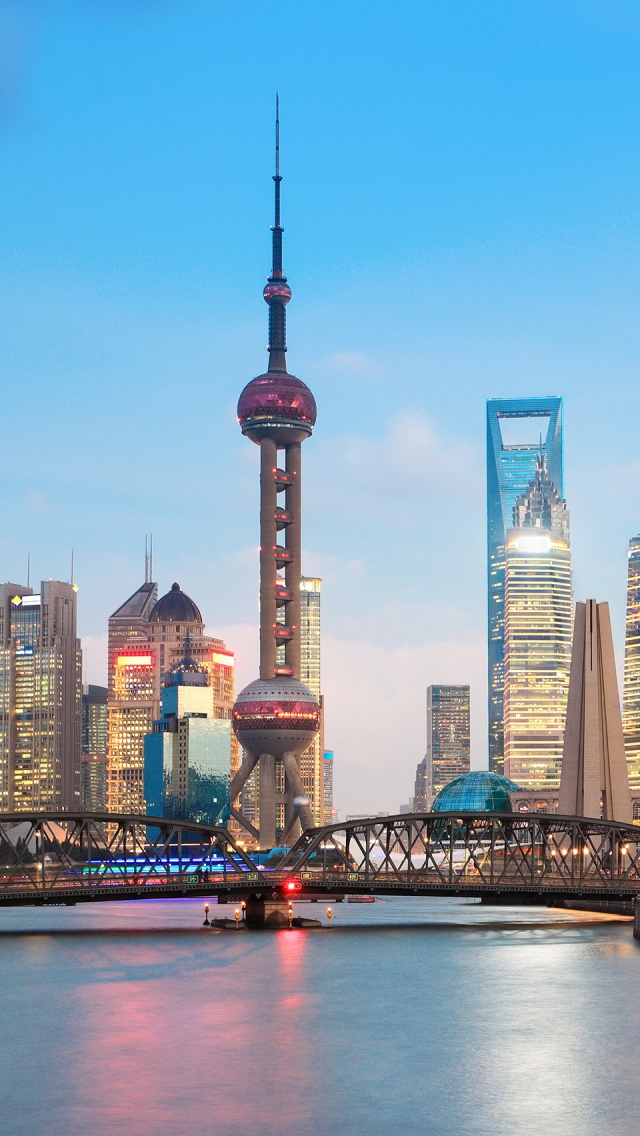 Shanghai Cityscape Iphone Wallpapers Free Download