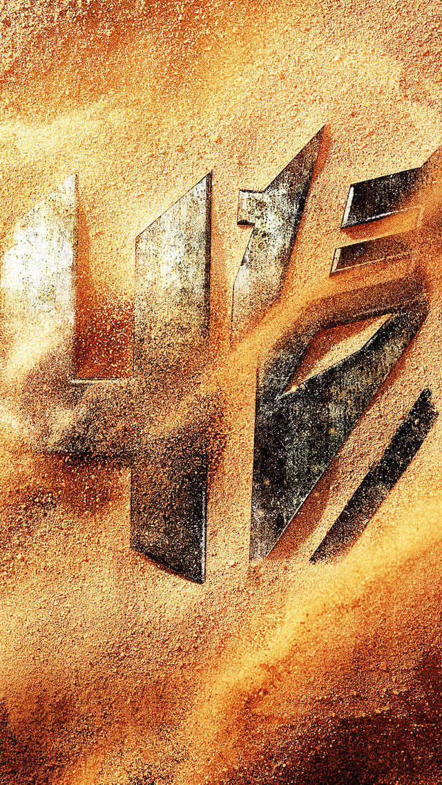 Transformers 4 Logo Desert iPhone wallpaper