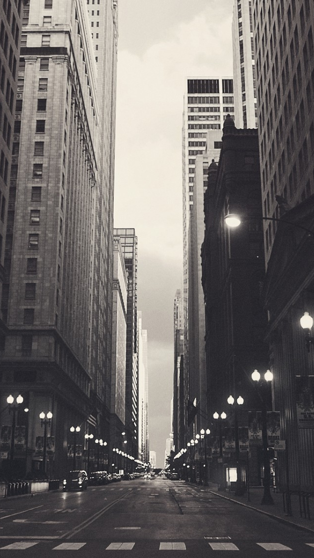 Financial District Chicago World iPhone wallpaper