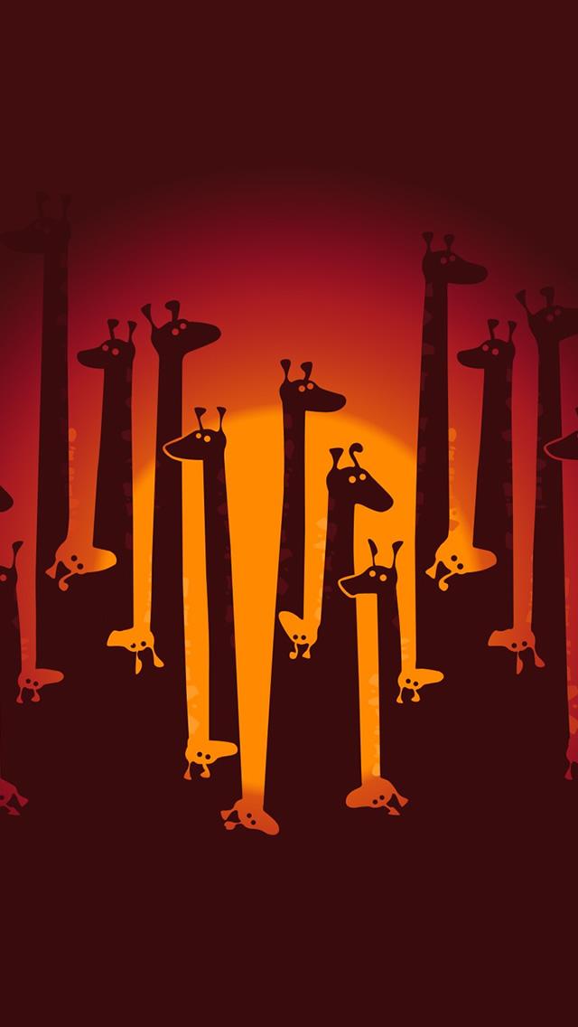 Cartoon Giraffe iphone wallpaper ilikewallpaper com