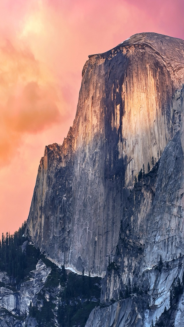 OS X Yosemite iPhone wallpaper