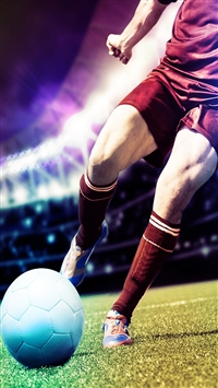 Kick The Football iPhone 5s wallpaper