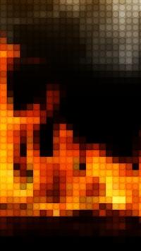 Mosaic Fire iPhone 5s wallpaper