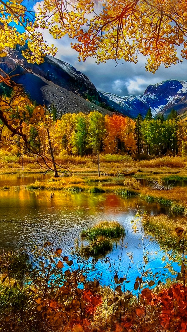 Mountain Autumn iPhone wallpaper