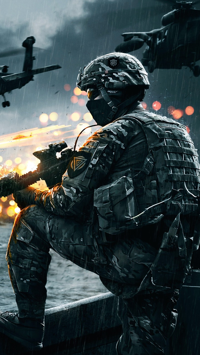Battlefield 4 Soldier iPhone wallpaper