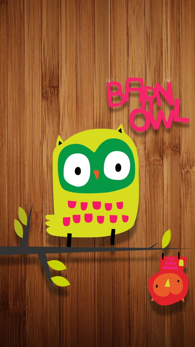 Cute Hanging Owl iPhone wallpaper