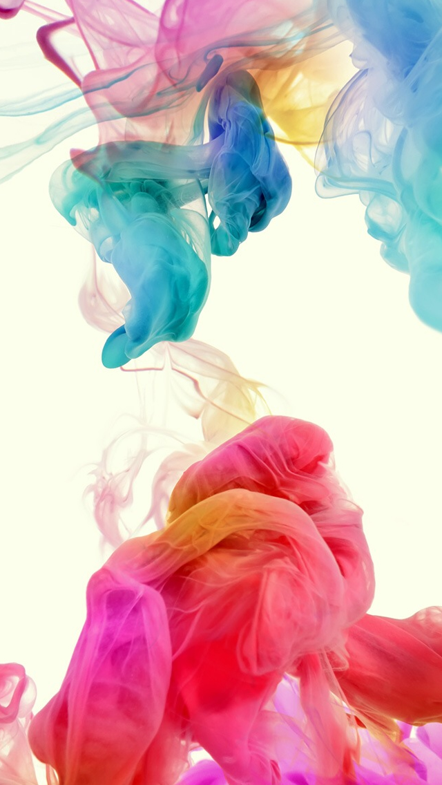 Abstract Colorful Ink iPhone wallpaper