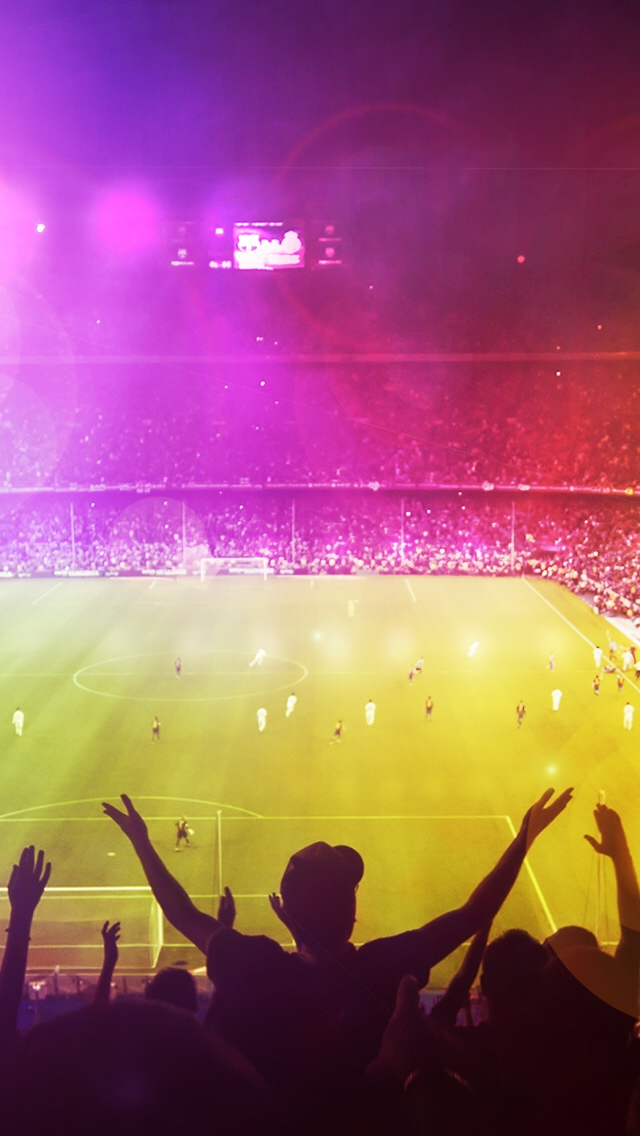 Cheerful Football Field iPhone Wallpapers Free Download