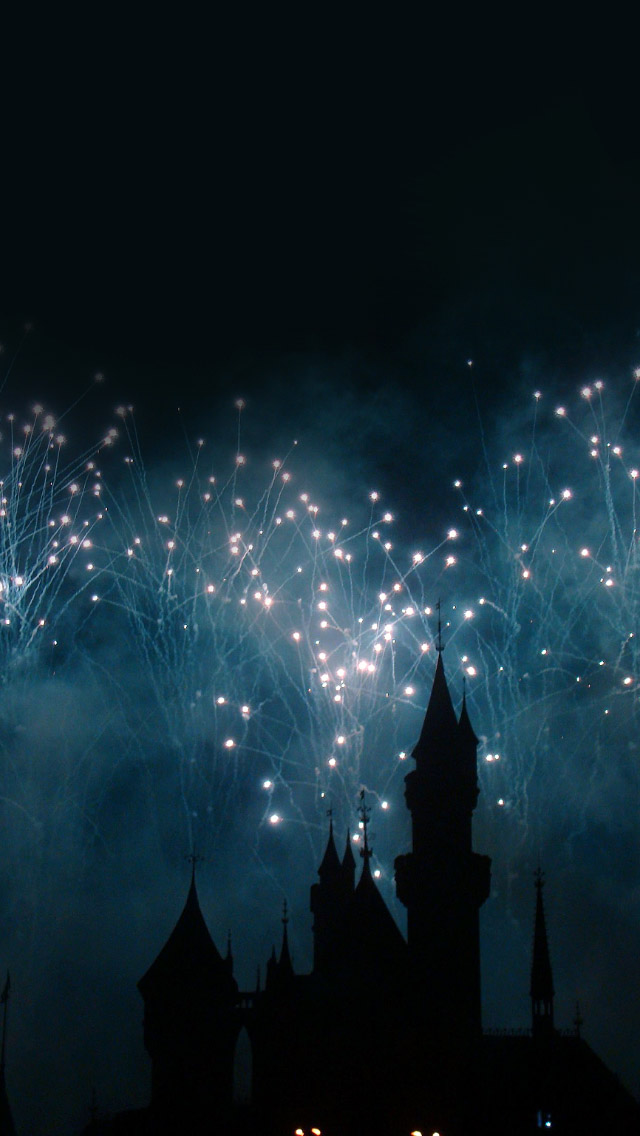 Dream Castle Firework  iPhone wallpaper