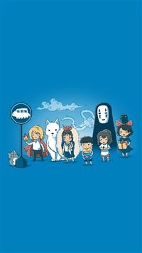 Cartoon and Childrenhood iPhone 5s wallpaper
