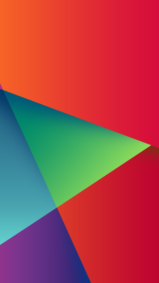 Geometric Colorful Triangle Match iPhone wallpaper