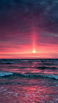 Fantasy Ocean Sunset Landscape iPhone 5s wallpaper