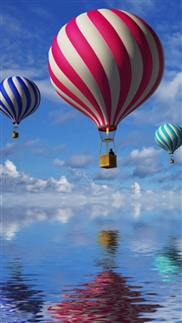 Candy Cane Colored Air Balloons iPhone wallpaper
