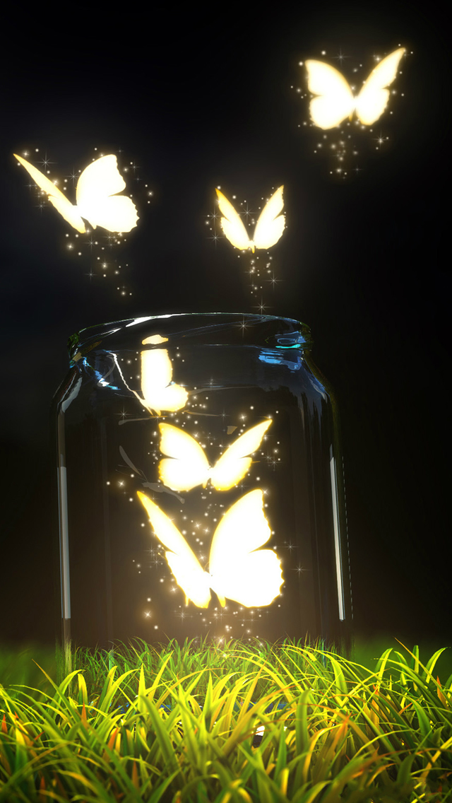 Fantasy Butterfly Jar iPhone wallpaper