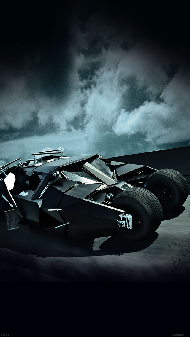 Batcar Batman Highway Art Hero iPhone wallpaper