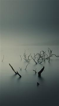 Ubuntu Gnome Mist Fog Underwater iPhone 5s wallpaper