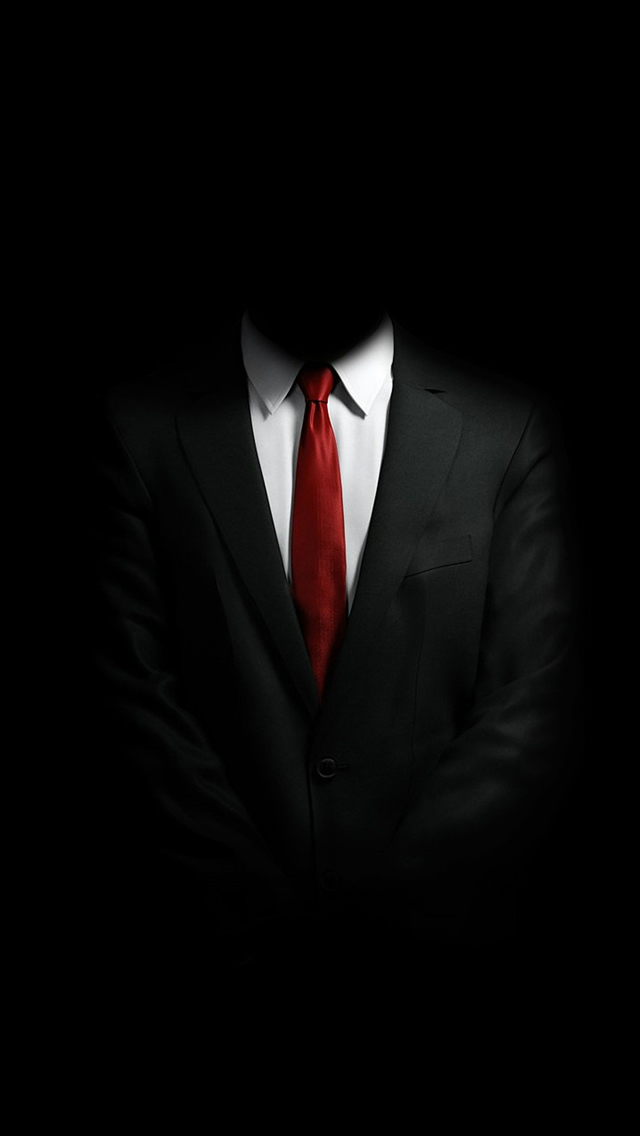 Mystery Man In Suit iPhone wallpaper