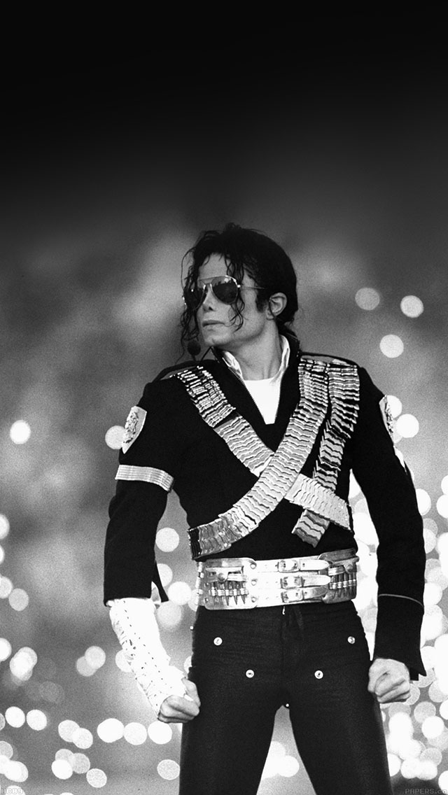 Michael Jackson Bw Concert King Of Pop iPhone wallpaper