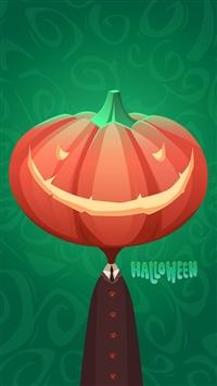 Halloween Mr Pumpkin iPhone 5s wallpaper