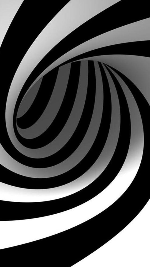 3D Abstract Swirl iPhone wallpaper