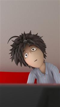 Lazy Mess Up Alarm Cartoon iPhone 5s wallpaper