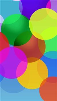 Fluttering Color Bubble iPhone 5s wallpaper