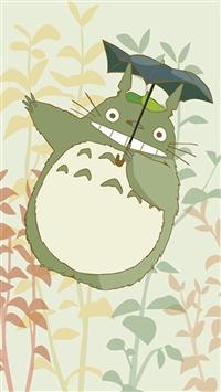 Cute Cartoon My Neighbor Totoro iPhone 5s wallpaper